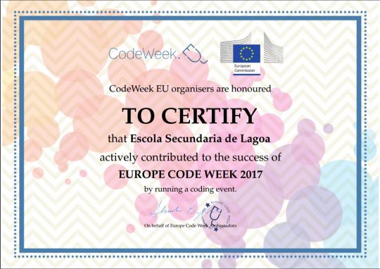 Certificado CodeWeek